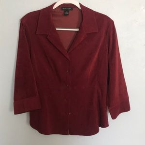 Harold's suede like button down top size 12